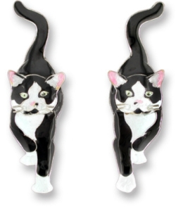 socks the cat earrings
