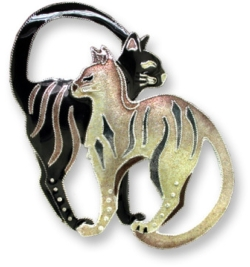 Lookin Back Cat Pin Designed by Zarah's Artist Donna Boiman